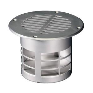 Ventilatierooster vloer RVS dia 83 mm