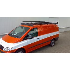 Dakdrager staal zw. poederl. (265 x 143 cm) Mercedes Vito compact met deur