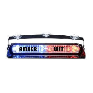 Avenger II dashbordflitser Dubbel led, Amber/Wit, sigarettenaansteker