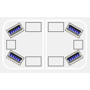 Justice lichtbalk MINI, 580 mm, Blauw, R65 KL2