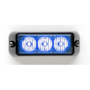 TIR3 LED Flitser, blauw, Horizontale montage