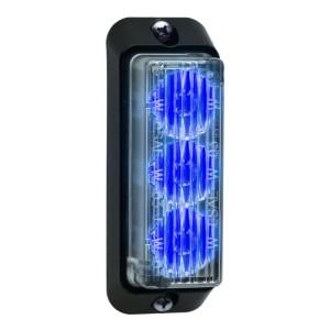 TIR3 LED Flitser, blauw, Verticale montage