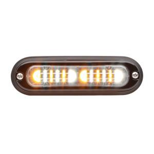 T-ION DUO LED Flitser, Amber/Wit, Oppervlakte montage, Ultralaag profiel