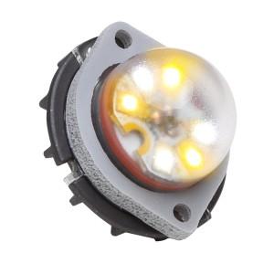 Vertex LED Flitser, Amber, Omnidirectioneel, 24V